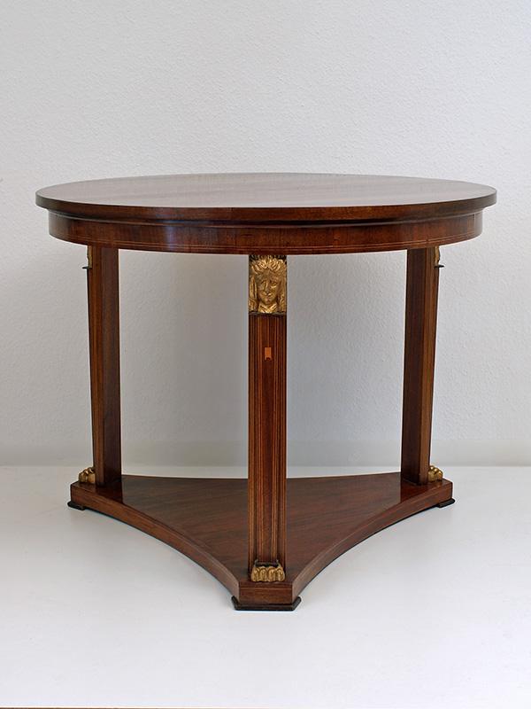 Tisch mahagoni ahorn auf weichholz furniert um 1900 for Tisch ahorn