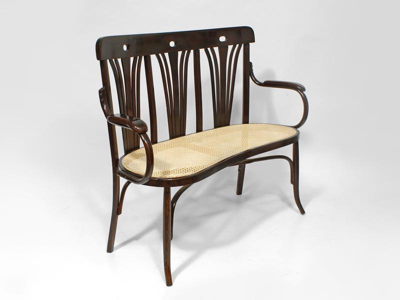 jugendstilsitzbank firma gebr der thonet wien um 1900 antiquit ten am markt t bingen. Black Bedroom Furniture Sets. Home Design Ideas