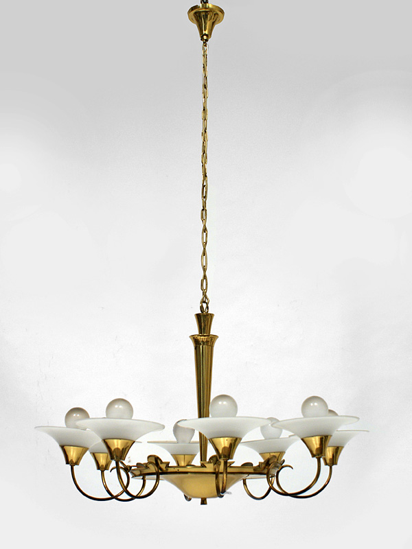 Art-Deco Deckenlampe, Messing – Antiquitäten am Markt Tübingen