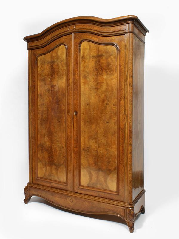 Kleiderschrank, Nussbaum, Frankreich, um 1880 – Antiquitäten am ...