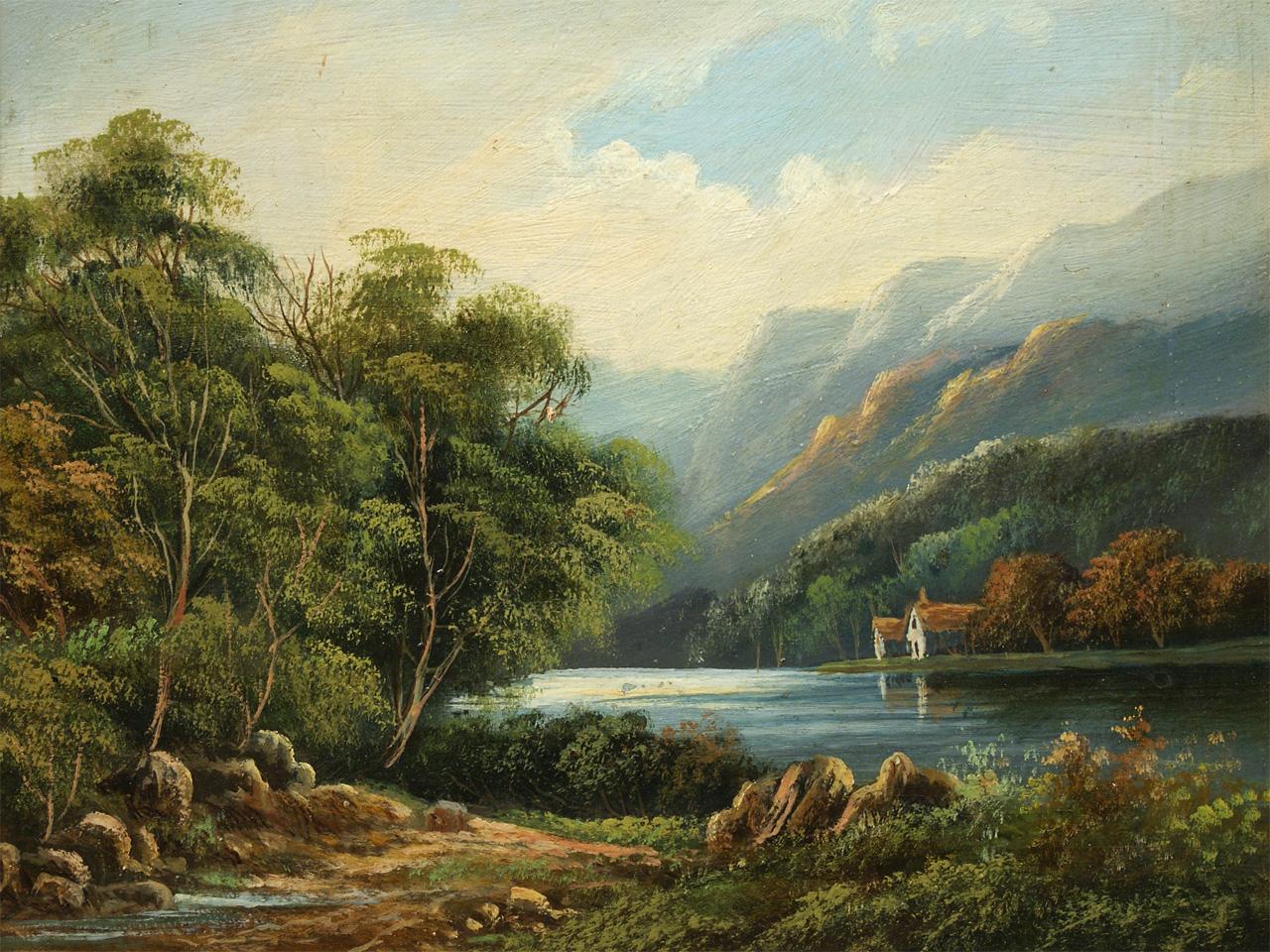 Landschaftsmalerei barock  Art.Nr. G25 Ölgemälde, Landschaftsmalerei, um 1900 – Antiquitäten ...