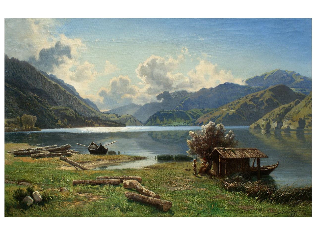 Landschaftsmalerei barock  Art.Nr. G 50 Ziegler, Andreas: Ölgemälde, Landschaftsmalerei, 2 ...