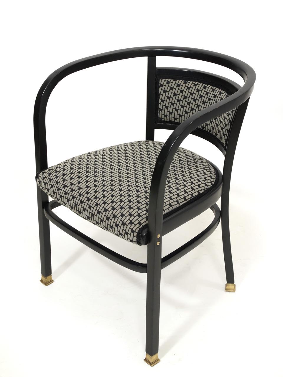 art nr 4079 zwei armlehnsessel dunkel poliert firma thonet entwurf nach otto wagner fotos. Black Bedroom Furniture Sets. Home Design Ideas