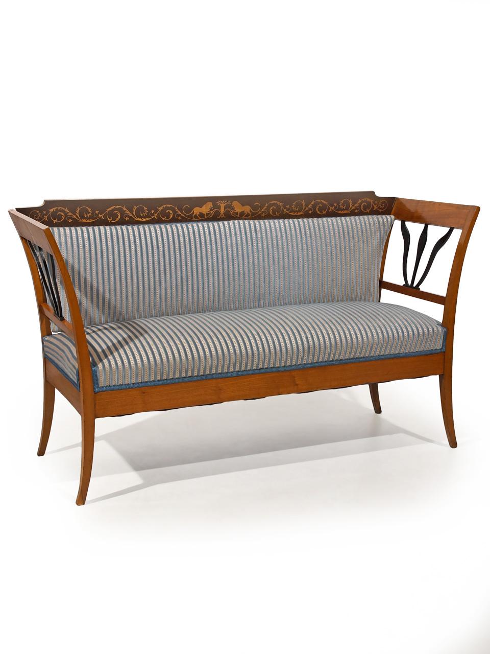 art nr 4319 sitzbank teils ebonisierte l wenverzierungen. Black Bedroom Furniture Sets. Home Design Ideas
